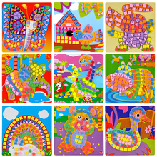 Hot Creative 3D Mosaics Sticker Game AnimalsTransport Arts Craft Puzzle for Kids EVA Educational Toy DIY Model Building Toys(China)