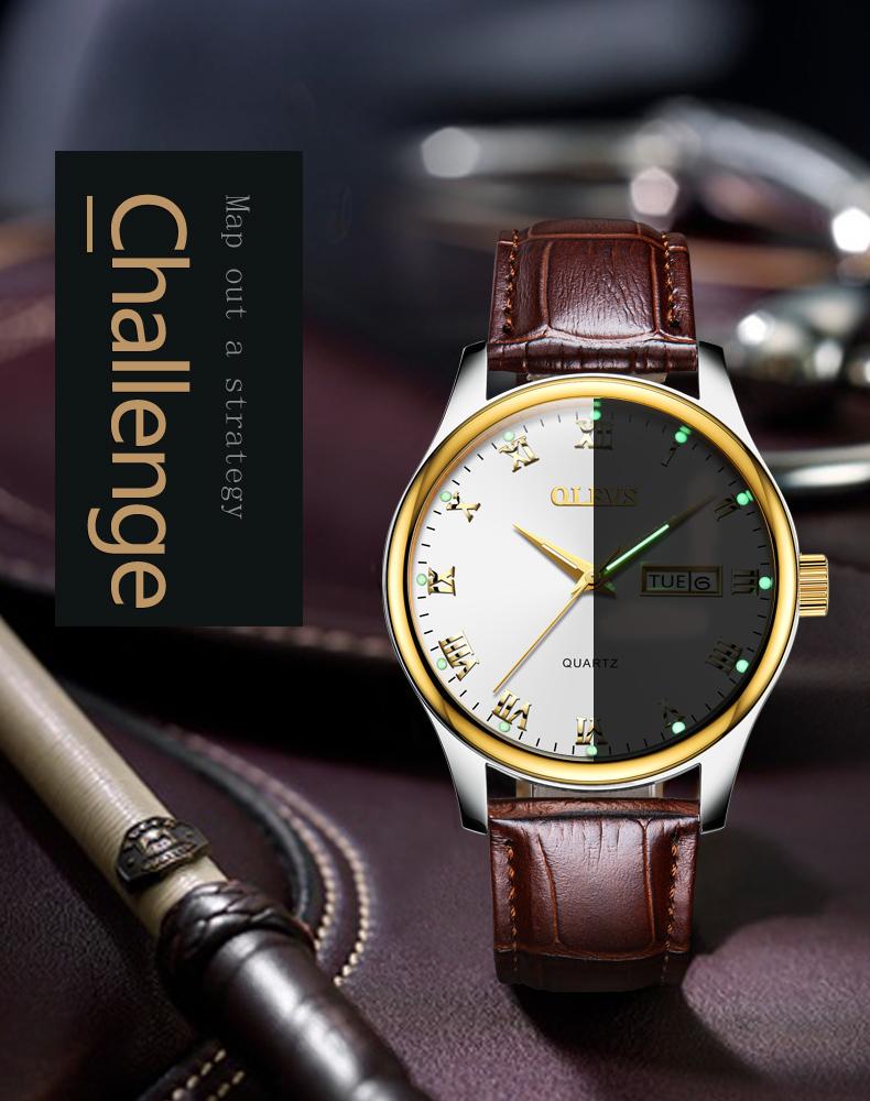 HTB1DfG5jBcHL1JjSZJiq6AKcpXaw - OLEVS Luxury Men Gold Watches High Quality Watch Men's Quartz Date Clock Male Week Display Wristwatch Steel relogio masculino