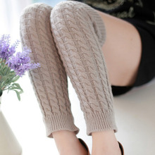 Leg Warmers for Women Sprong Autumn new Warm polainas Knitted Girl's Solid Casual Loose Crochet Long Socks wholesale 10 Colors(China)