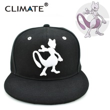 CLIMATE 2017 Popular Game Pocket GO Gotcha Pikachu Mewtwo Mewtu Flat Snapback Caps Pocket Monster Pikachu Hat Adult Men Women