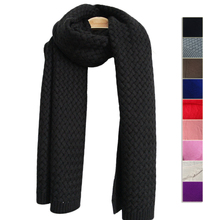 Brand Original Women Wool Winter Scarf Luxury Brand Solid Color Pashmina Knitted Wrap NEW(China)