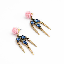 Saphire & Violetta Flower Spike Pink Earrings 2014 For Tragus Wholesale Jewellery
