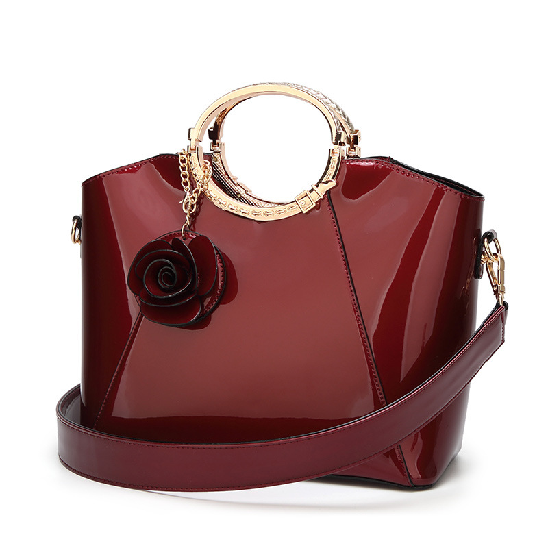 Luxury Patent Leather Handbags Women Bags Fashion Brand Designer Tote Bag Ladies Handbags Vintage Female Shoulder Bags Bolsas<br>