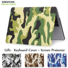 SZEGYCHX Camouflage Laptop Case For MacBook Air 11 13 inch For Macbook Pro with Retina 12 13.3 15 Scren Protector+keyboard Cover