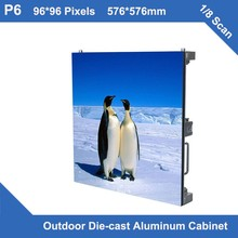 TEEHO 6pcs/lot waterproof led display P6 Outdoor rental diecasting Cabinet THIN 576mm*576mm 1/8scan led advertising video screen
