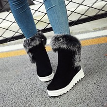 new Fashion Snow Boots platform women winter shoes waterproof ankle boots Round toe Wedges Winter Ladies Sexy boots
