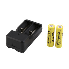 2pcs 3.7V 18650 9900mah Li-ion Rechargeable Battery + Universal US Plug Charger Promotion
