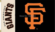 MLB San Francisco Giants Wordmark Flag Banner New 3x5FT 90x150CM 100D Polyester 8728, free shipping(China)