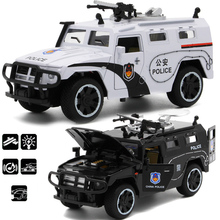 1:32 Sheriff's Chariots Araba Diecast Metal Car Toy Acousto-optic Police Model Alloy Car Toy Doors can be Opened For Kids Gifts