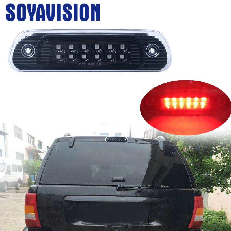 1PCS Red Trunk Third Clear Car Brake Stop light Auto Rear lamp Brake Lights
