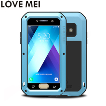 For Samsung Galaxy A3 2017 A320F Case A5 2017 SM-A520F Cover LOVE MEI TPU & Hard Metal Back Cover & Toughened Glass Phone Cases(China)