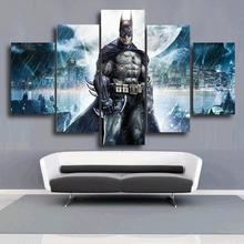 5 Piece Printed Batman Movie Poster Group Painting Children'S Room Decor Print Poster Picture Canvas Free Shipping Unframed