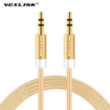VOXLINK 3.5mm jack aux Cable for iPhone 6 Samsung mp3 3.5mm Car Audio Cable wire Colorful Nylon Headphone Beats Speaker AUX Cord