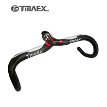 New Compact Type Road Bike 3K Full Carbon Bicycle Handlebars And Stem Integrated 400/420/440*90/100/110/120mm Free Shipping
