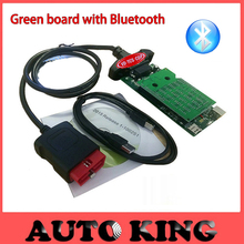 with Green ne-c pcb relays new vci bluetooth function VD tcs cdp pro multi-brand obd obd2 scan tool work for cars trucks 3in1