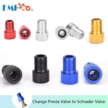Buy Bike Valve Aluminum Alloy Bicycle Tyre Tube Change Presta Valve Schrader Valve Crossover Sub Pump Gas Mouth Conversion for $1.06 in AliExpress store