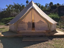 Pastoral Life 6M Cotton Canvas Bell Tent Waterproof Tipi Tent Khaki for Sale 6 Meters Diameter 19.7 Feets(China)