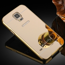 Buy Luxury Metal Aluminum Frame + Mirror Acrylic Case Cover Samsung GALAXY S5 I9600 Mobile Phone Accessories Battery Back Case for $3.55 in AliExpress store