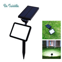 Garden Solar Security Lamp Wall Waterproof Solar Charging Lights 48 Led Bulb Lampe Lawn Lighting Solaire 5Modes 960LM(China)