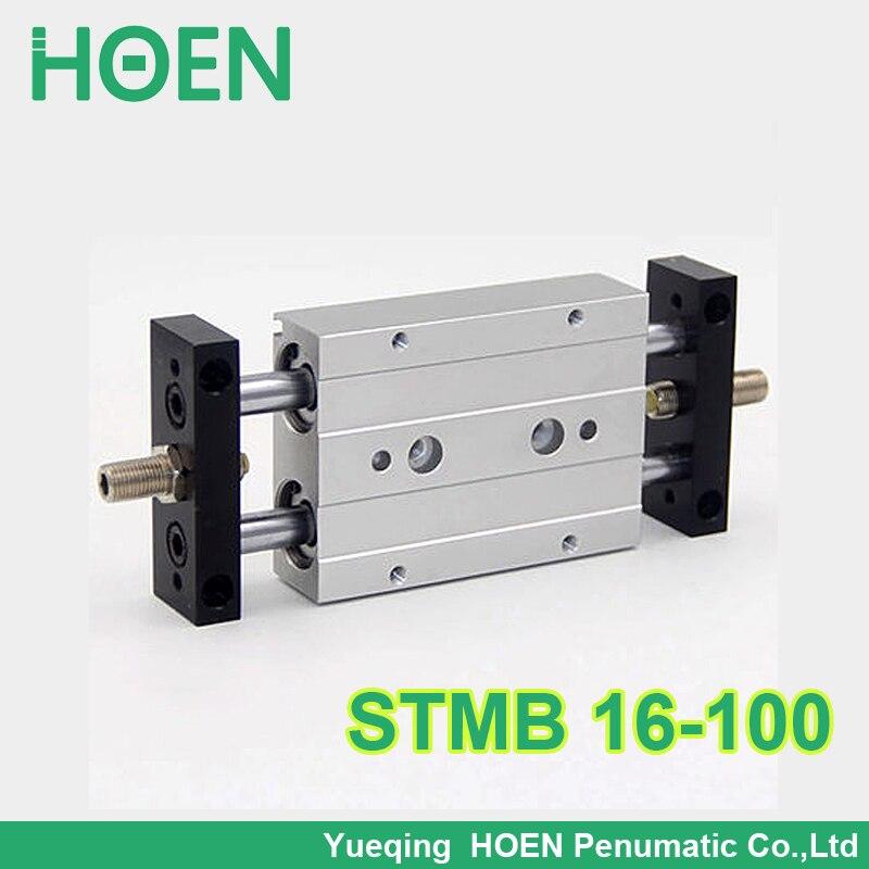 STMB 16-100 HIGH QUALITY Airtac Type Dual Rod Pneumatic Cylinder/Air Cylinder STMB Series STMB16*100 STMB16-100<br><br>Aliexpress