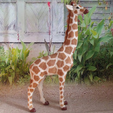 simulation cute giraffe large model polyethylene&furs giraffemodel home decoration props ,model gift d695(China)