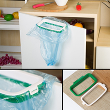Kitchen Cupboard Cabinet Door Mounted Garbage Rack Storage Creative Rubbish Bag Holder Drop shiping