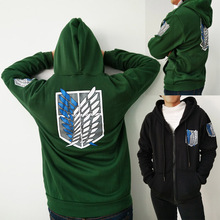 2017 Attack on Titan Hoodies Sweatshirts Coat Japan Anime Halloween Party Eren Levi Hoodies Cosplay Costume Legion Clothing