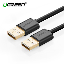 Ugreen USB 2.0 Male to Male Data Transfer Extension Cable Type A USB Computer Connector Cable for Laptop Radiator HDD Camera