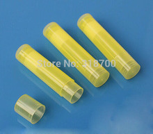 100pcs /Lot  5G Transparent Yellow  PP Lipstick tube, Lip tube (not including the lip cream only the shell)