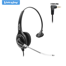 Free Shipping 2.5mm plug Headset headphones for Cisco SPA Series, Grandstream, Polycom SoundPoint IP 321/331 Pro SE-220/225(China)