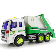 Kids Truck Model Toys ABS Material Materials Handling Truck Cleaning Vehicle Models Garbage Truck Sanitation Trucks Clean Car(China)