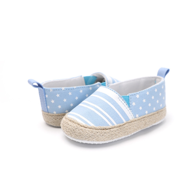 Baby Girl Shoes Toddler Infant Baby Girl Dot Striped Crib Shoes Soft Sole Anti-slip Single Shoes Baby First Walker Shoes M30#F (10)