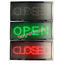 LED Open sign DIP LED light sign19x10 inches Neon OPEN/CLOSED Sign with On/Off Switch
