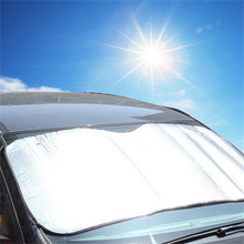 Universal Big Size 220*70CM Car Sun Front Shade Window Sunshade Covers Visor Shield Screen for SUV(China)