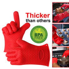 1 piece Food Grade Cooking Baking thicken BBQ Glove Heat Resistant Silicone BBQ Grill Glove Barbecue Grilling Glove BBQ Tools