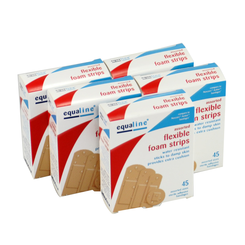 Free Shipping High Quality 90 PCs/2Boxes Breathable Waterproof Assorted Foam Sterile Adhesive Bandages Wound Band aid Hemostasis<br><br>Aliexpress
