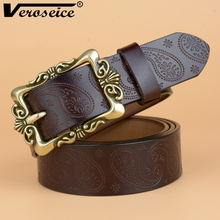 [Veroseice] Fashion brand lady belts designer women belt real leather classic pin buckle belt for female luxury belts for women(China)