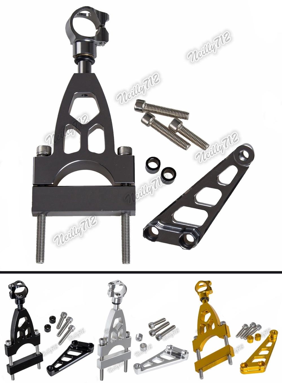 CNC Aluminium Steering Stabilizer Damper Mounting Bracket For HONDA CB400 Bolde Rabs/ABS 2004-2015 2005 2006 2007 2008 2009 2010<br>