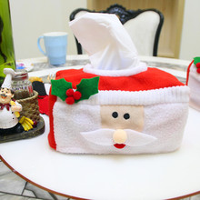 Merry Christmas tissue box cover Christmas santa claus home decoration Creative napkin holder xmas party supplies(China)