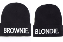 BLONDIE BROWNIE High quality Hot Sale Beanies girlfriend Women Gifts For Her Knitted hat Skullies Bonnet Winter Hats Brand 2016(China)
