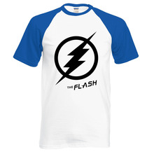 Superman Tee Shirts 2017 Summer Hot Sale The Flash Raglan Men T Shirt 100% Cotton Male T-Shirts Casual Loose Fit Men Tops Tees