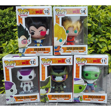 Dragon Ball Z Funko POP Super Saiyan Son goku Vegeta Cell Piccolo Frieza WCF PVC Action Figure Model DragonBall Toy Gift dbz