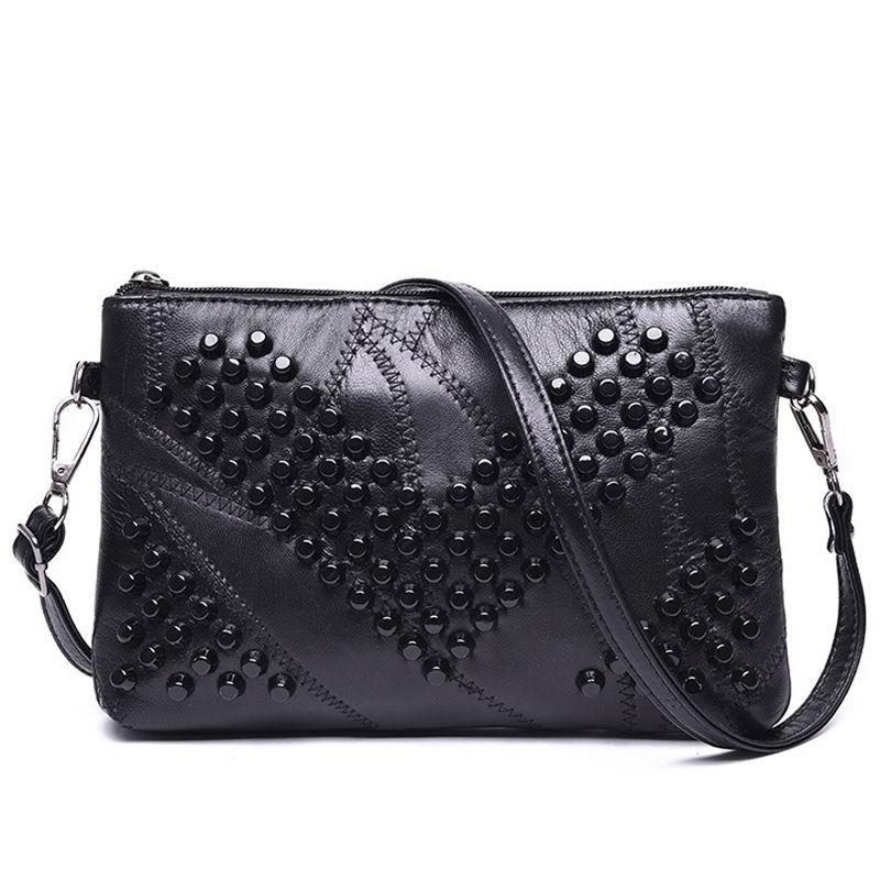 2017-Diamond-Genuine-Leather-Women-Bag-Rivet-Crossbody-Bag-Women-s-Clutch-Patchwork-Messenger-Bag-Females