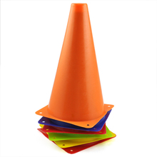 Best selling 6pcs Colorful Plastic Slalom Roller Skating Pile Mini Cones Traffic Signs Marks(China)