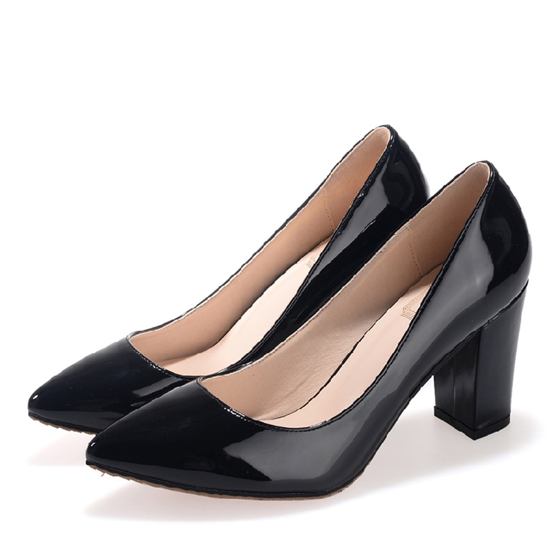 2017 Small Size 31-43 Fashion Black Patent Leather Sexy High Heels Women Pumps Ladies Shoes Woman Chaussure Femme 32 33 34 41 42<br><br>Aliexpress