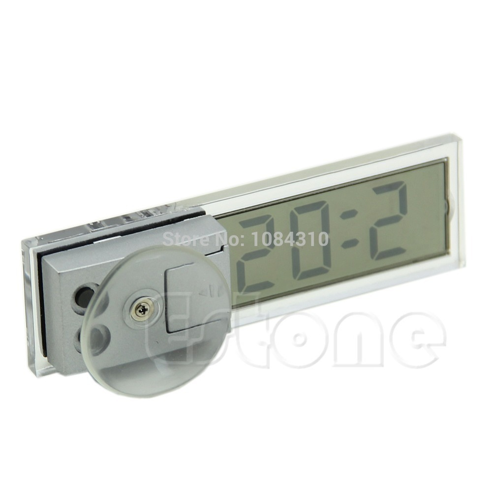 Digital LCD Display Suction Cup Windshield Clock