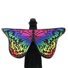 2017 Fahsion Novelty Ladies Colorful Butterfly Print Scarves Soft Beautiful Scarf Women Shawl Pashmina Female 7 Colors 1216#