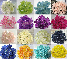 Free Shipping 34 COLORS for choose artificial hydrangea flower head DIY wedding party flowers 3pcs/lot(China)