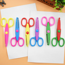 DIY Plastic Craft Scissors for Paper Border Cutter Scrapbooking  Kids Gift Home Decoration korean Stationery free shipping 10049