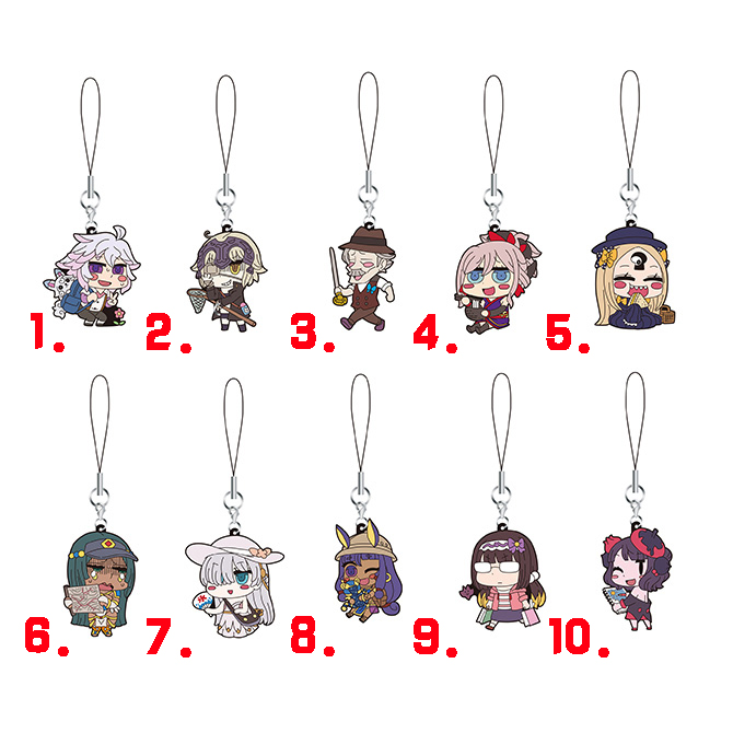 Anime Fate//Grand Order Rubber Strap Keychain Phone Charm Bag Pendant Okita Souji